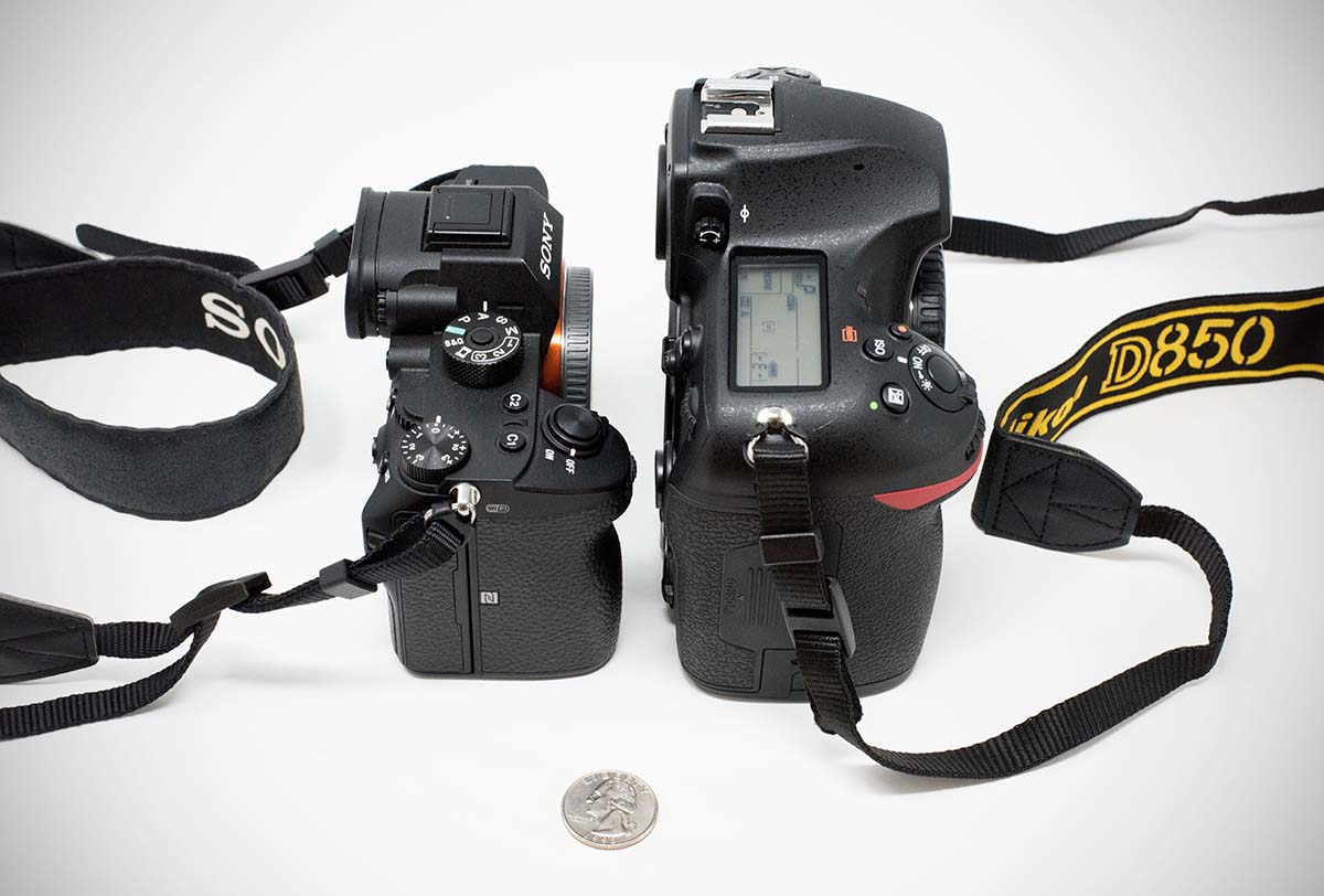 DSLR vs. mirrorless size comparison