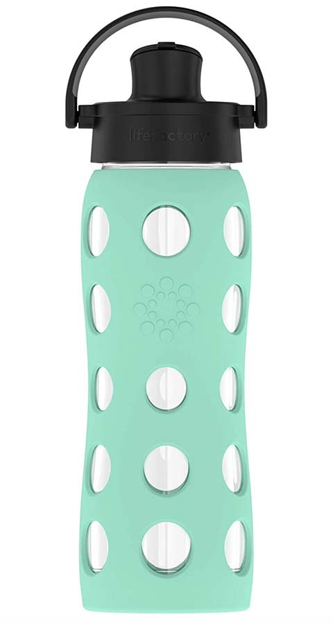 Lifefactory Glass Water Bottle with active cap