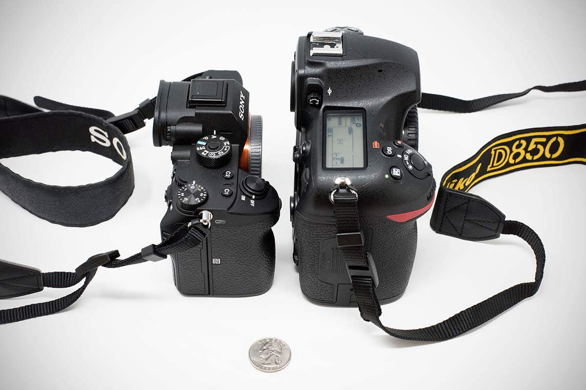 Mirrorless vs. DSLR size comparison