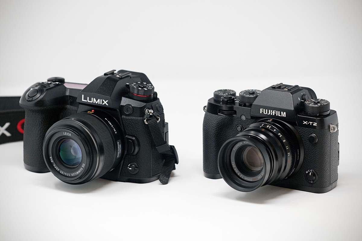 Panasonic Lumix G9 and Fujifilm X-T2