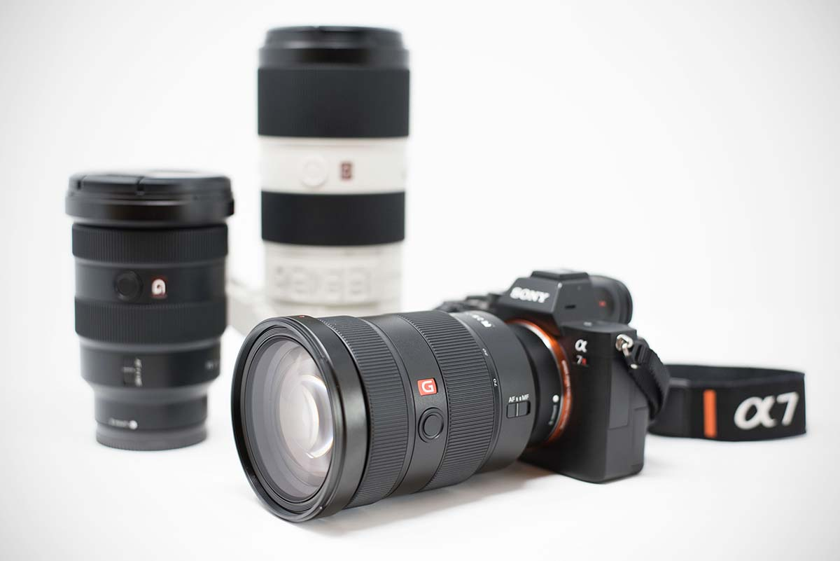 Sony a7r III camera and lenses