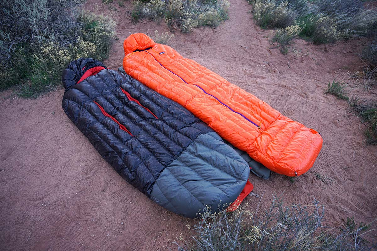 Nemo and Patagonia sleeping bags