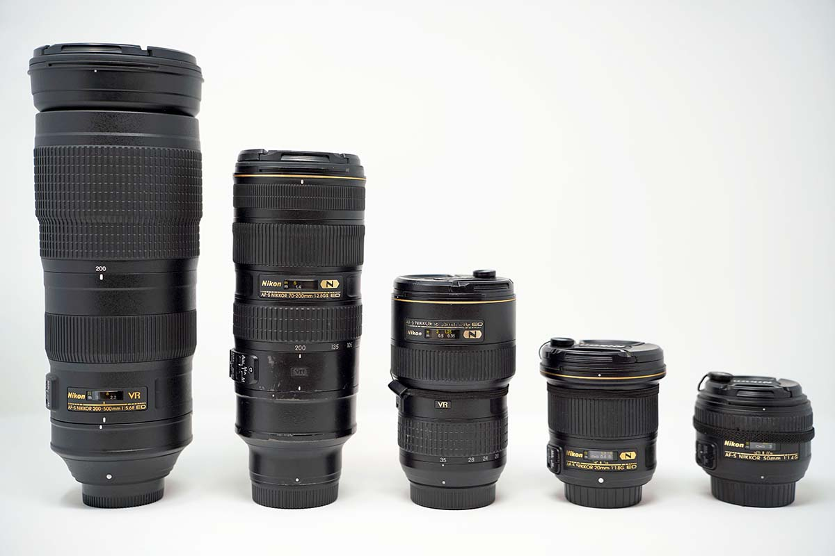 Nikon full-frame lenses