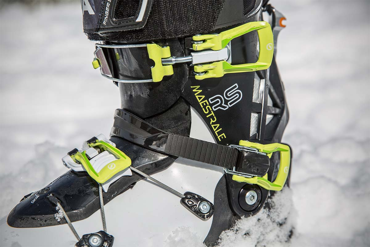 Touring ski boot buckles