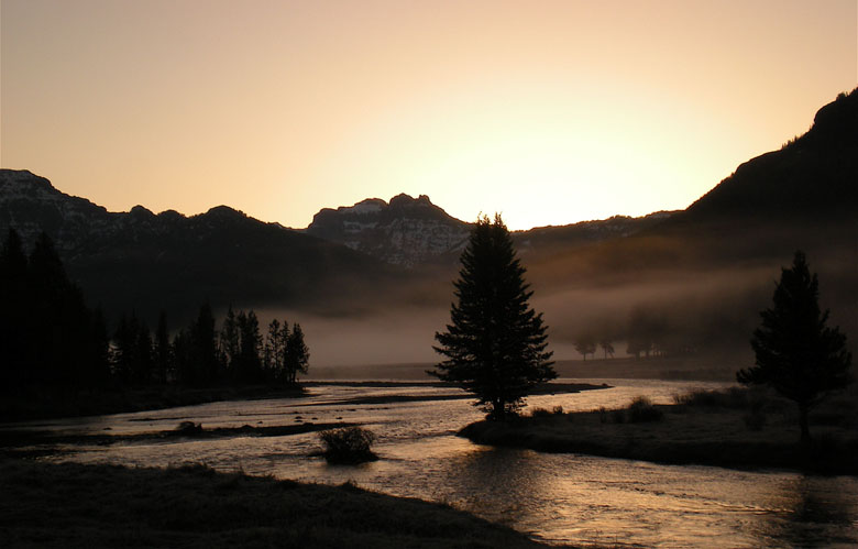 Yellowstone landscape photo