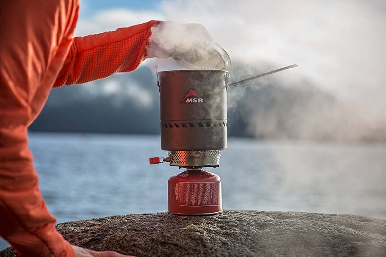 Backpacking stove (boiling water)