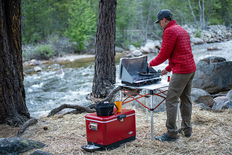 Camping stove (cooking by creek)