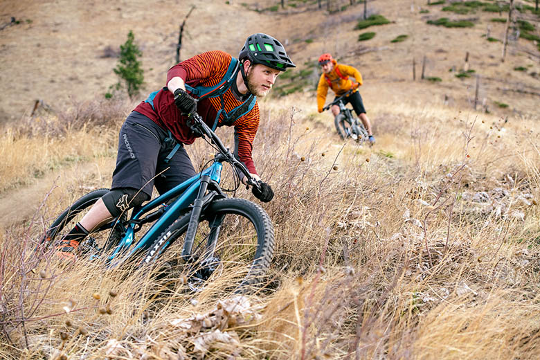 Mountain Bikes (leaning into a corner)