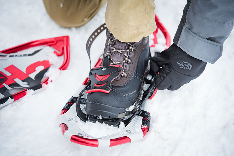 Snowshoe Traction Bars for traditional laced snowshoes Made in USA
