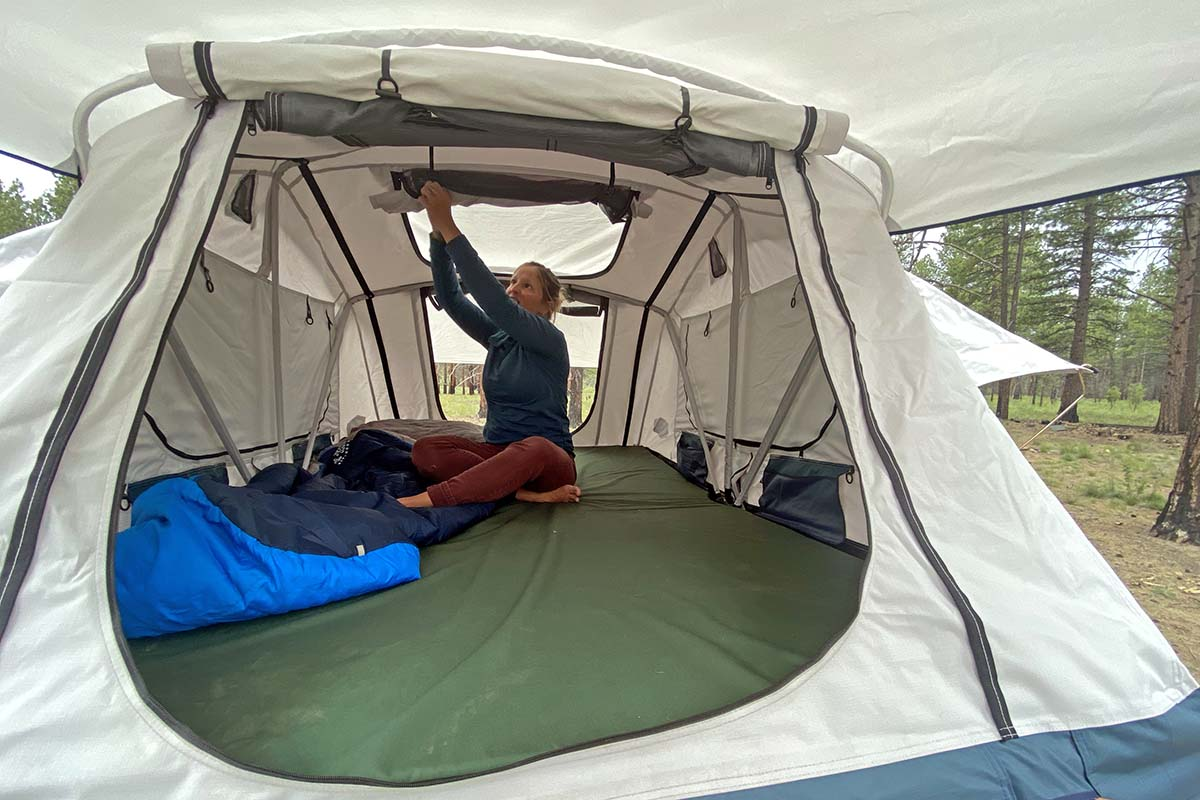 Inside Tepui Low Pro rooftop tent