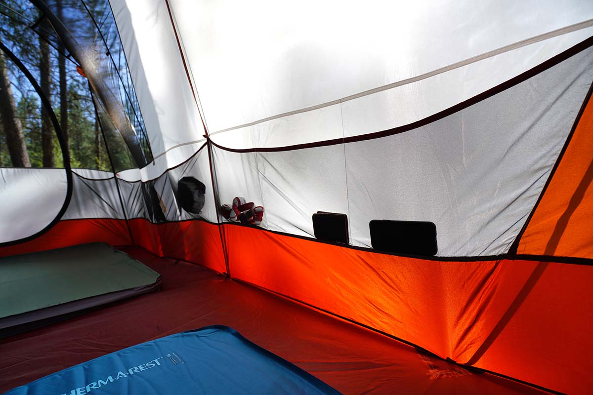 Camping tent (REI Kingdom 6 interior pockets)