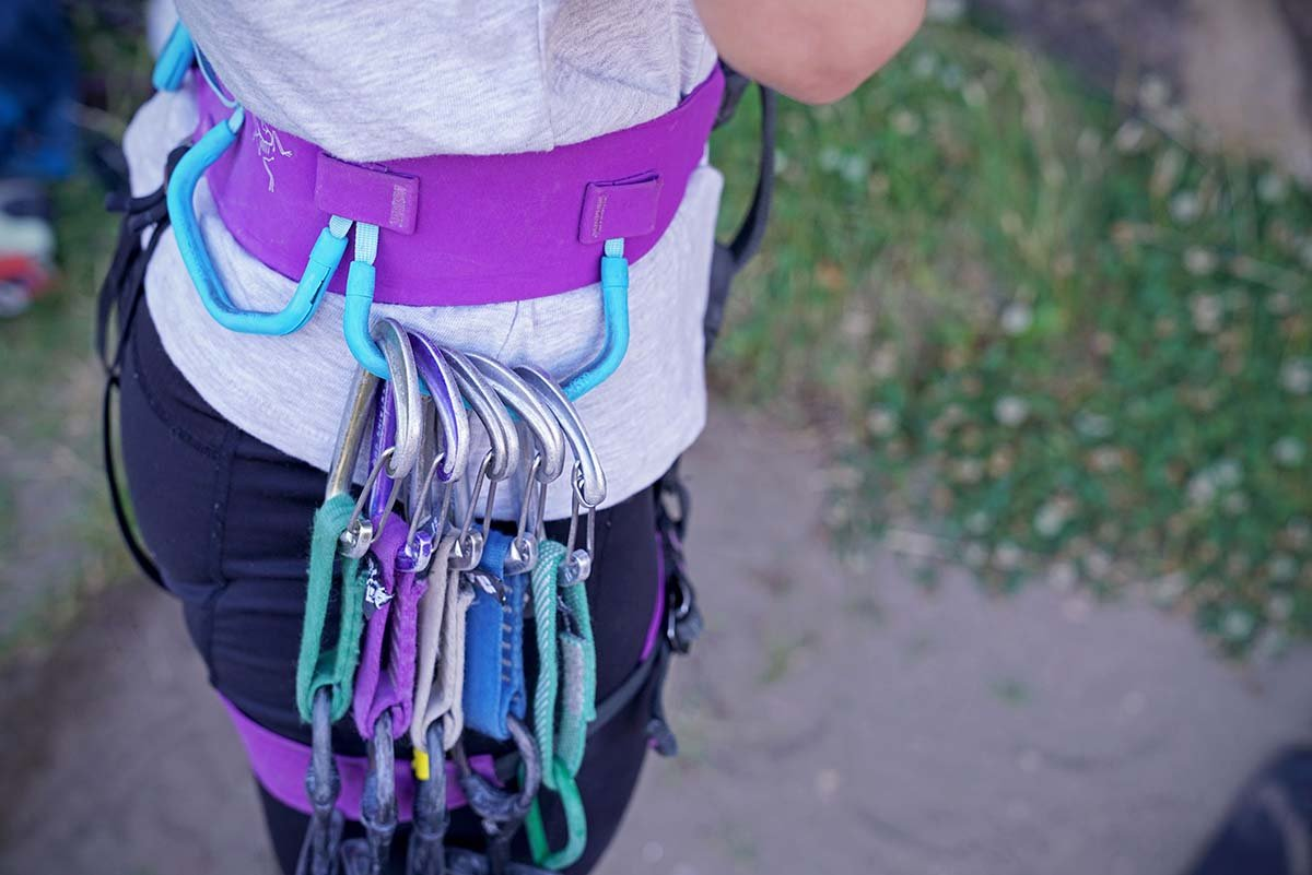 Climbing harness (split webbing)