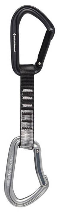 Black Diamond Hoodwire Express Set 6-Pack 12cm grey//black 2018