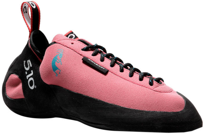 Five Ten Anasazi Pink climbing shoes