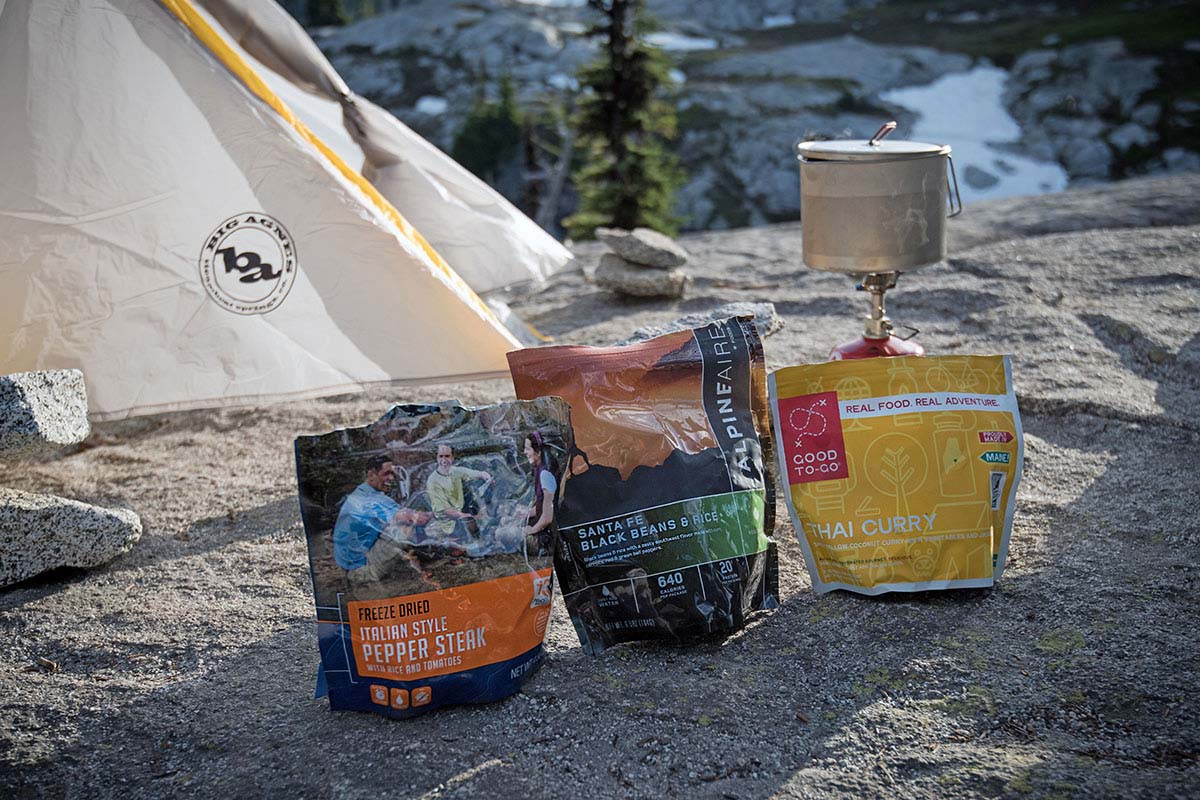Backpacking food (comparison photo)