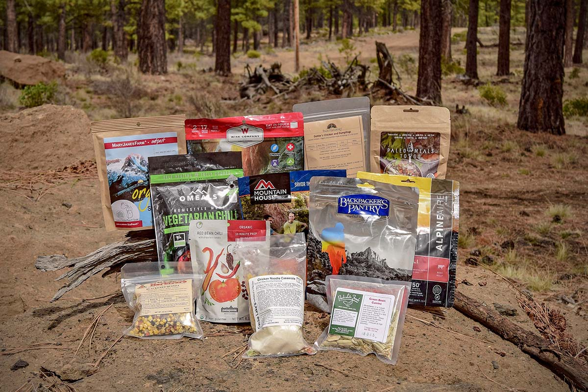 Backpacking food (group photo)