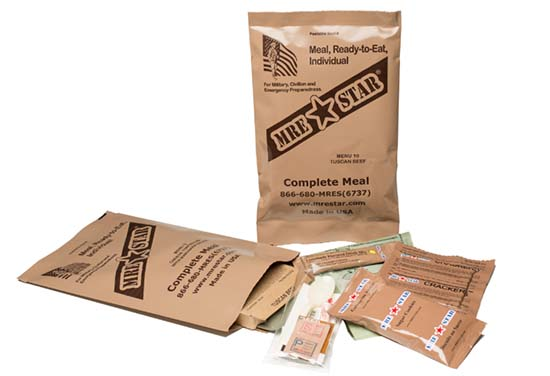 MRE Complete Meal backpacking food
