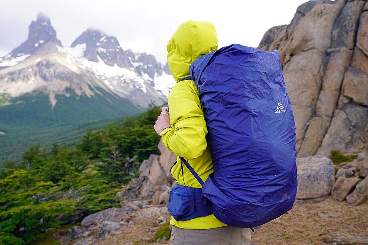 Gregory Optic 58 backpacking pack (using waterproof pack cover)