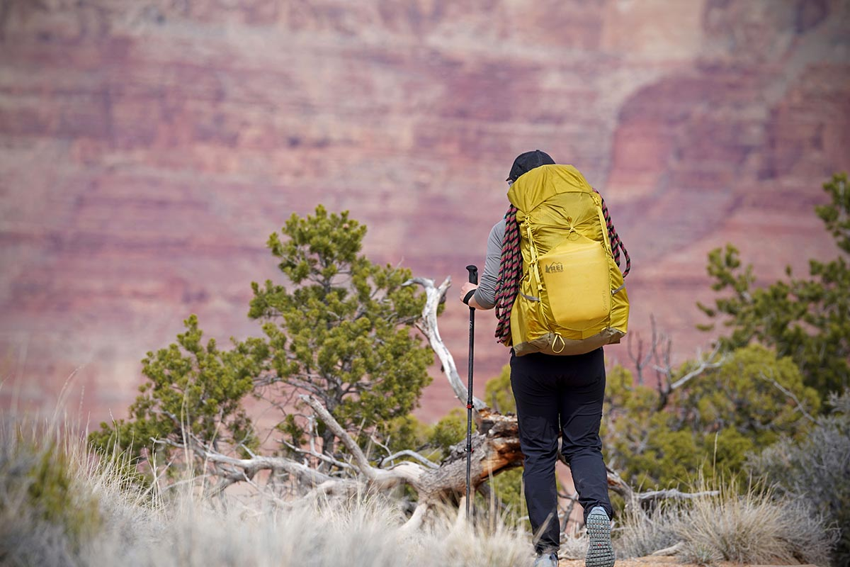 REI Flash 55 backpacking pack (hiking in Grand Canyon)