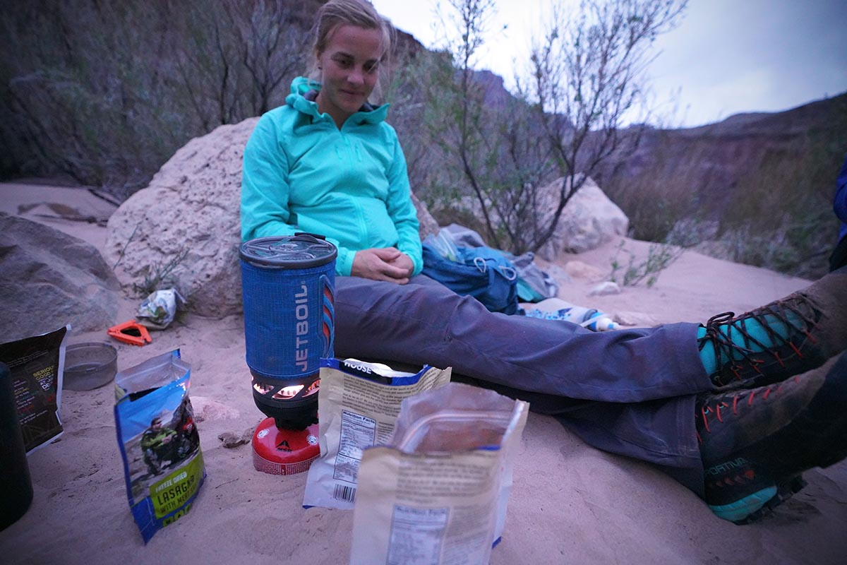 Backpacking stove (Jetboil Flash boiling water)