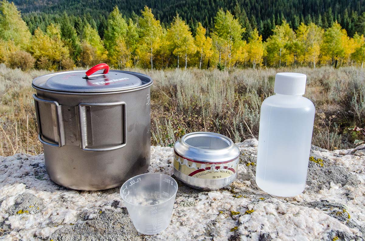 Backpacking stove (AntiGravityGear Tin Man alcohol stove)