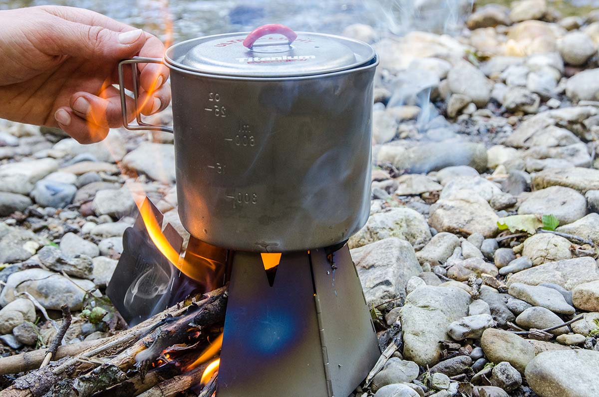 Backpacking stove (Vargo Hexagon Wood Stove)