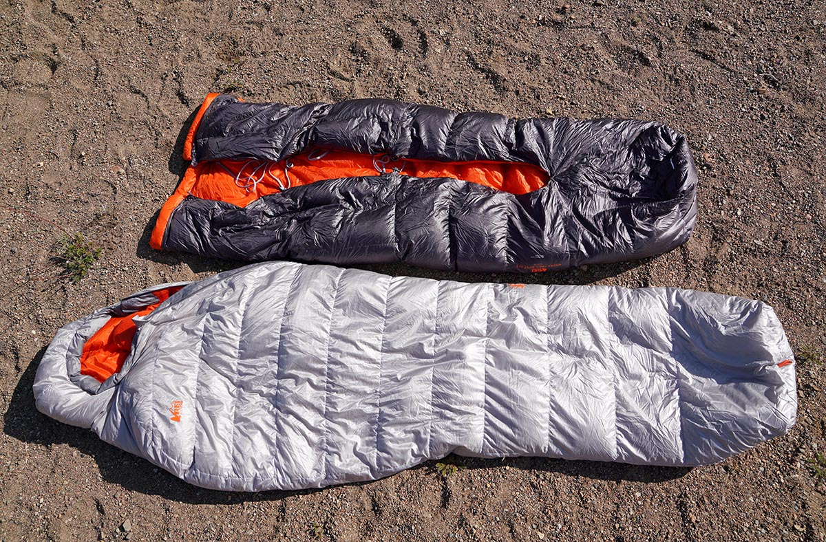 Sleeping bag and quilt (REI Magma)