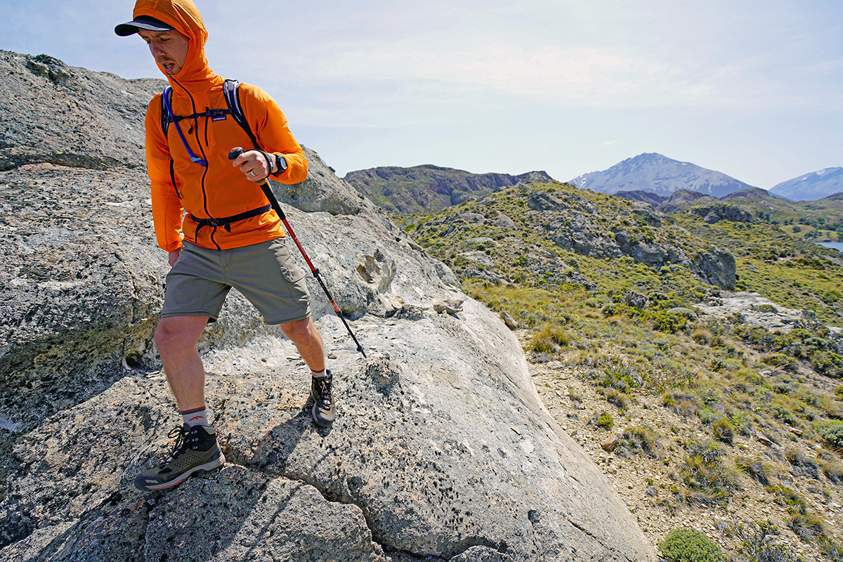 Trekking poles (hiking with one pole in Patagonia)