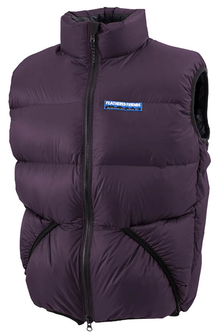 Feathered Friends Helios Down Vest purple
