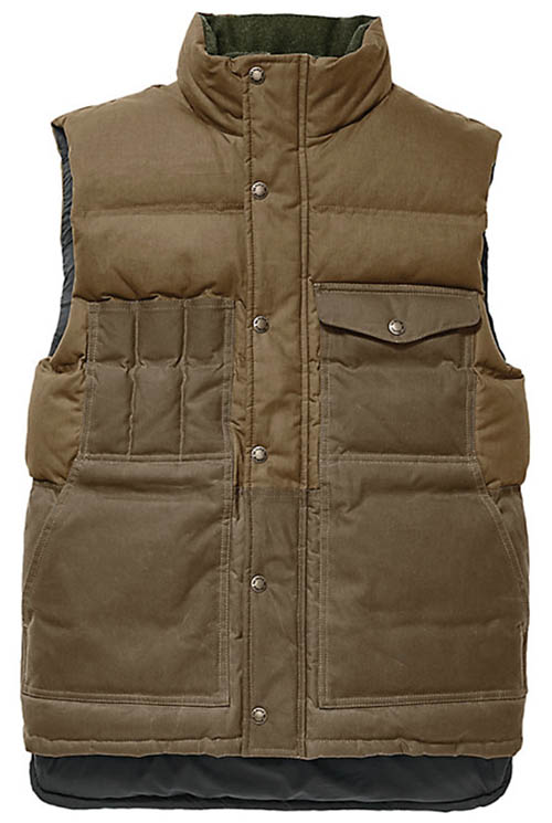 Filson Down Cruiser Vest dark tan