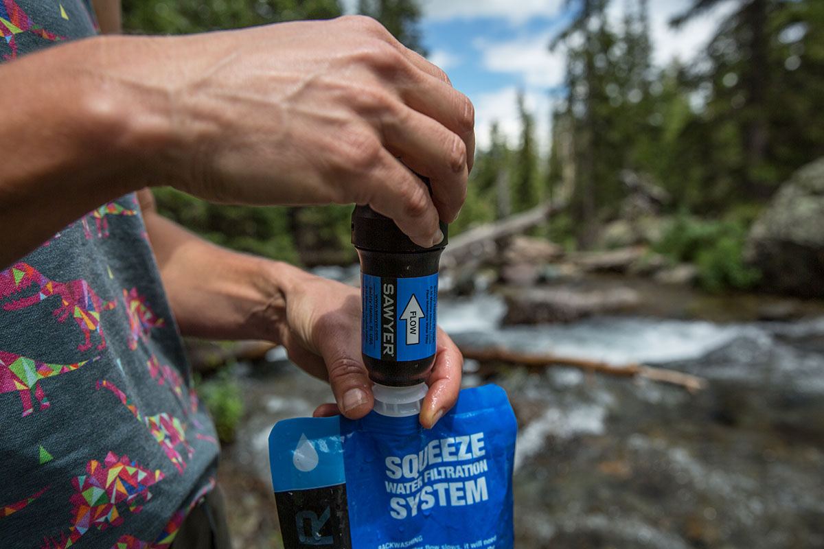 Water filter (Sawyer Squeeze)