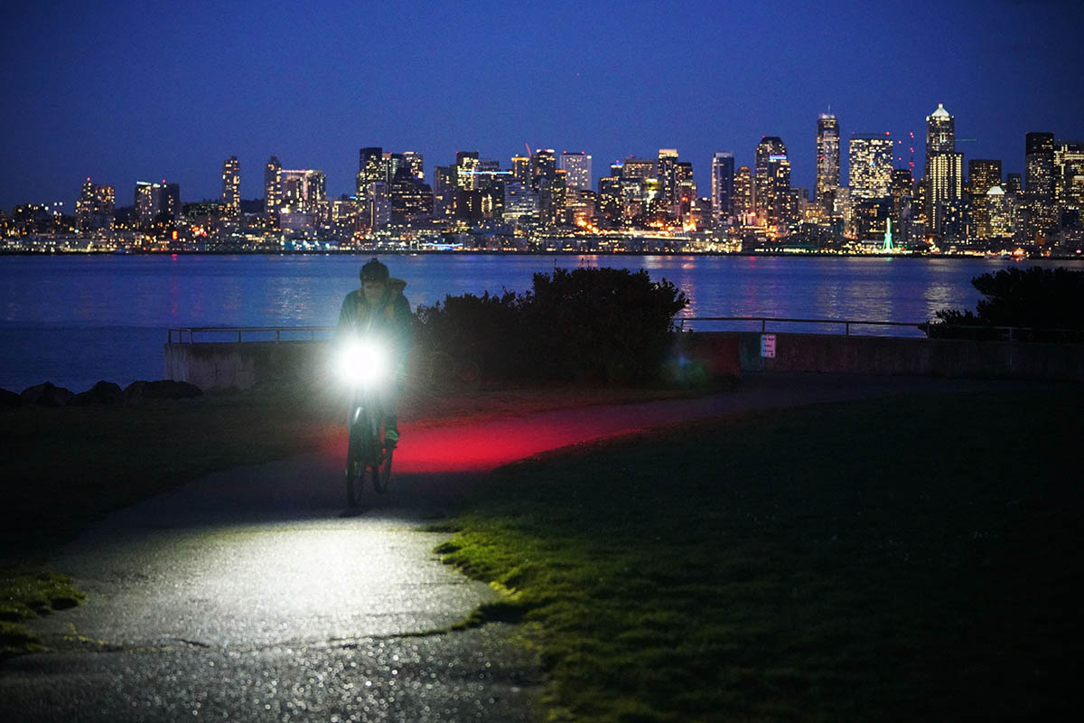 Bike light (Seattle skyline)