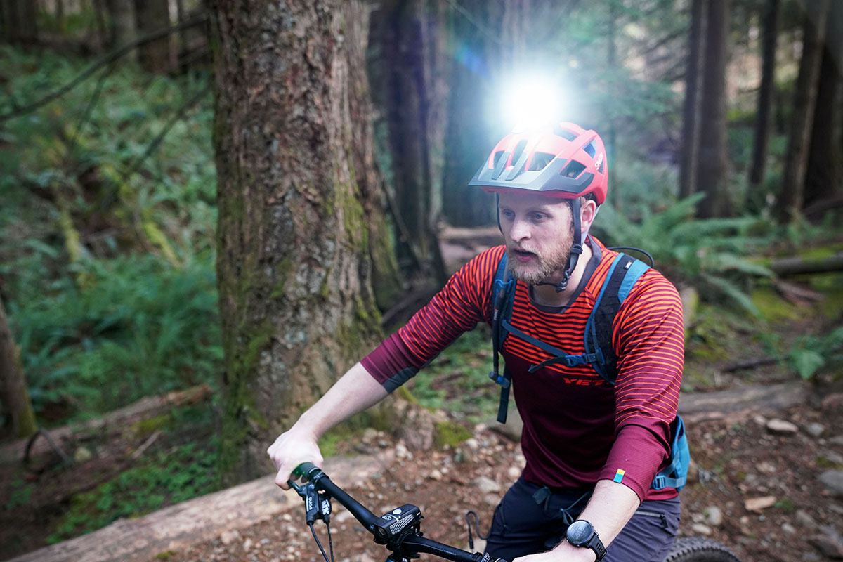 Bike light (helmet mounted)