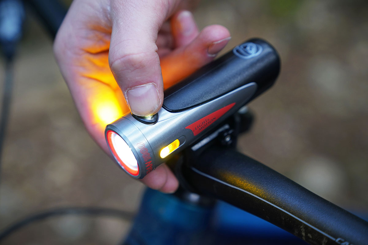 Bike light (turning on)