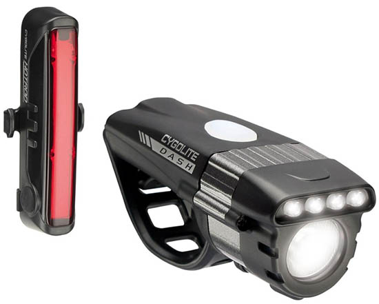 Cygolite Dash Pro 600 and Hotrod 50 USB bike light set