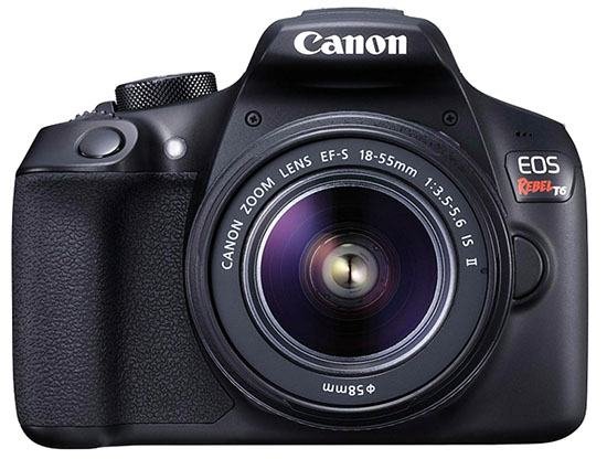 Canon Rebel T6 DSLR camera