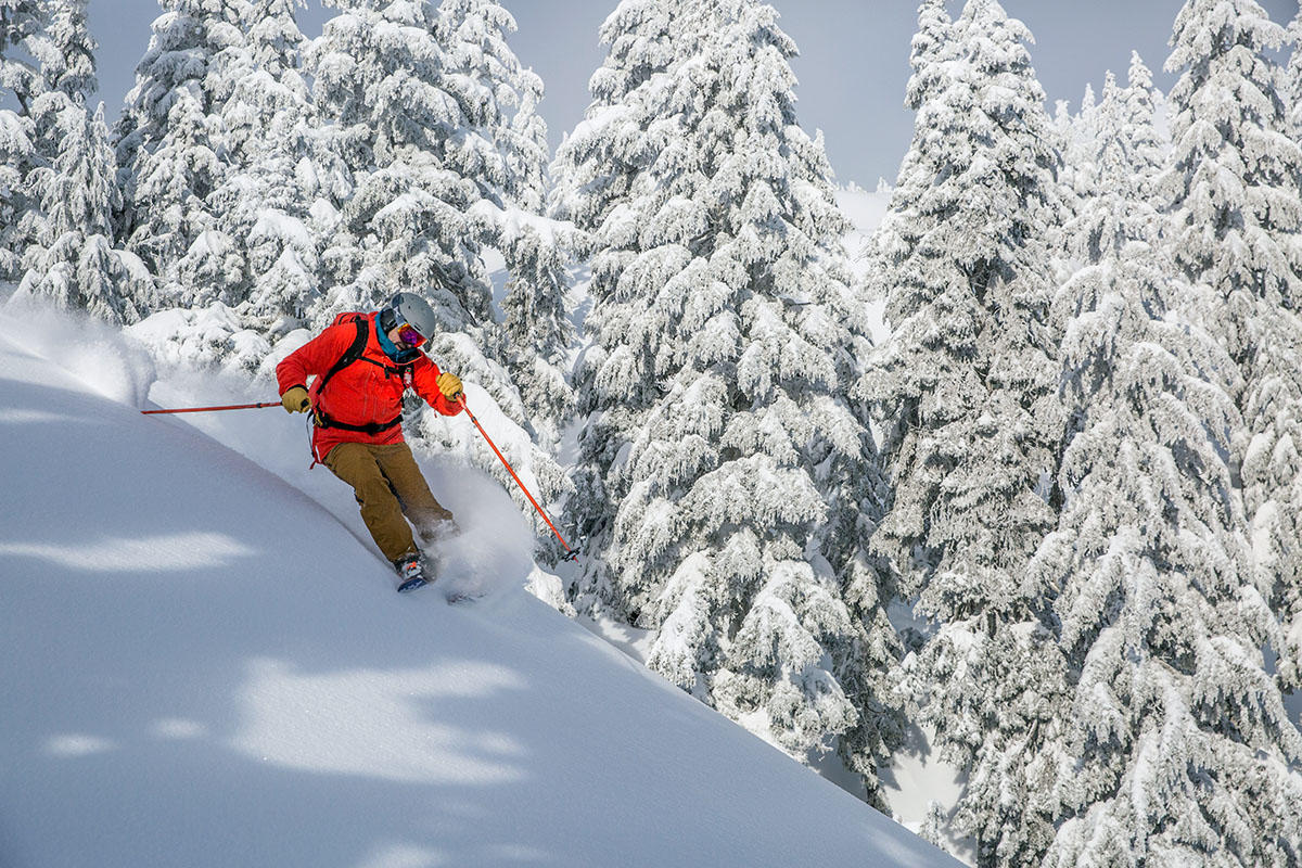 Backcountry skis (skiing deep powder)