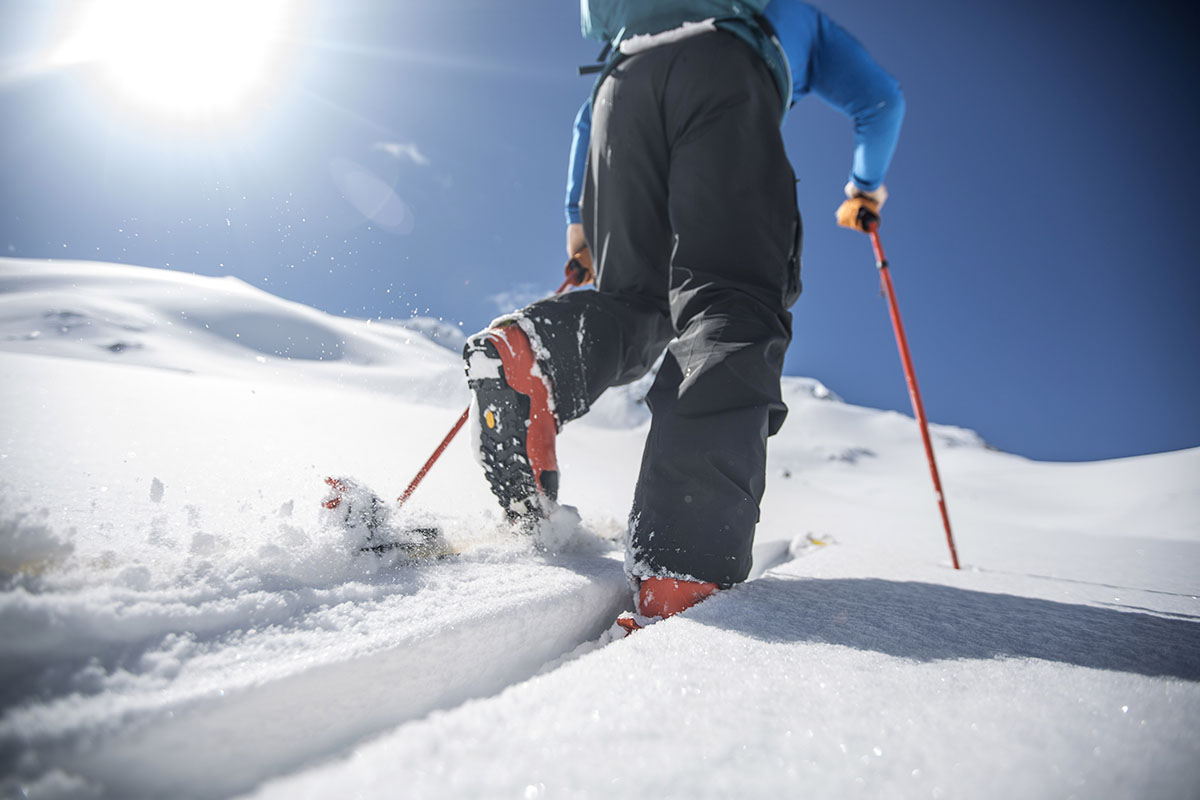 Backcountry skis (traveling uphill)