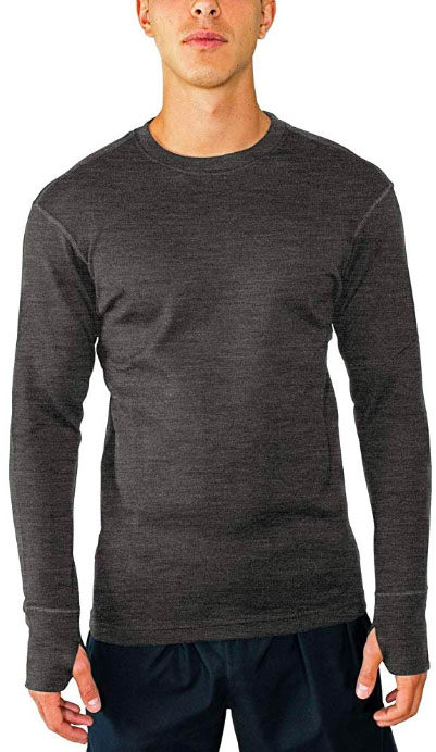 Woolx Glacier LS Heavyweight Crew