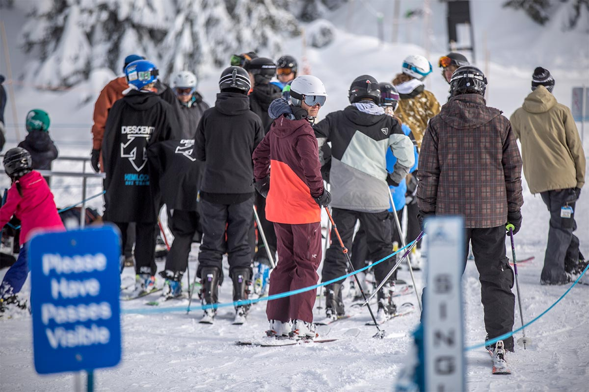 Ski brands (waiting in lift line)