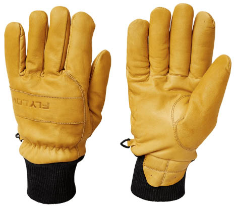 FlyLow Ridge leather ski gloves