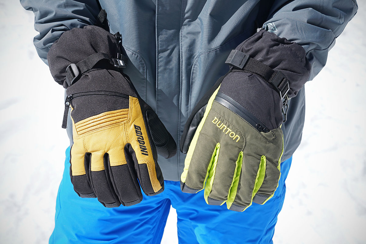 Ski gloves (Gordini Storm Trooper II and Burton Gore-Tex)