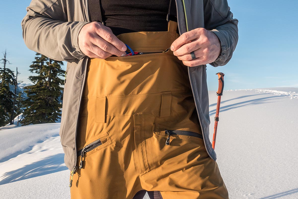 Ski pants (Outdoor Research Hemispheres bib)