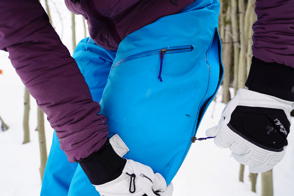 Ski pants (Patagonia PowSlayer side venting)