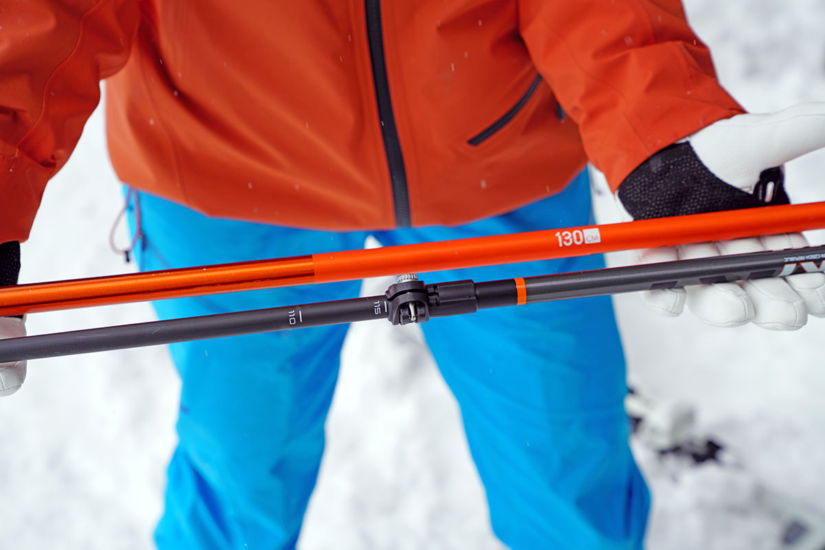 Ski poles (fixed versus telescoping)