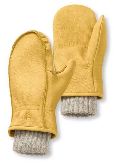 L.L. Bean Buckskin Chopper winter mittens