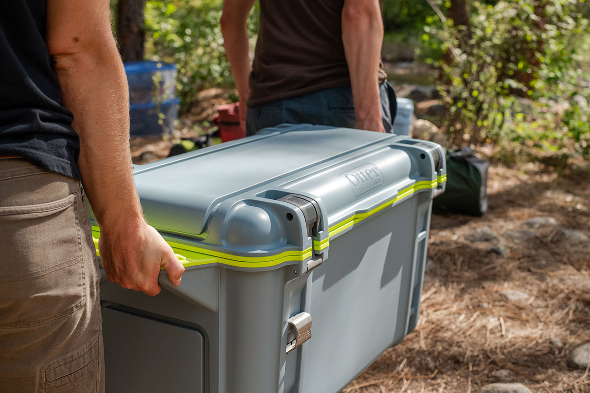 Cooler (carrying OtterBox Venture 65)