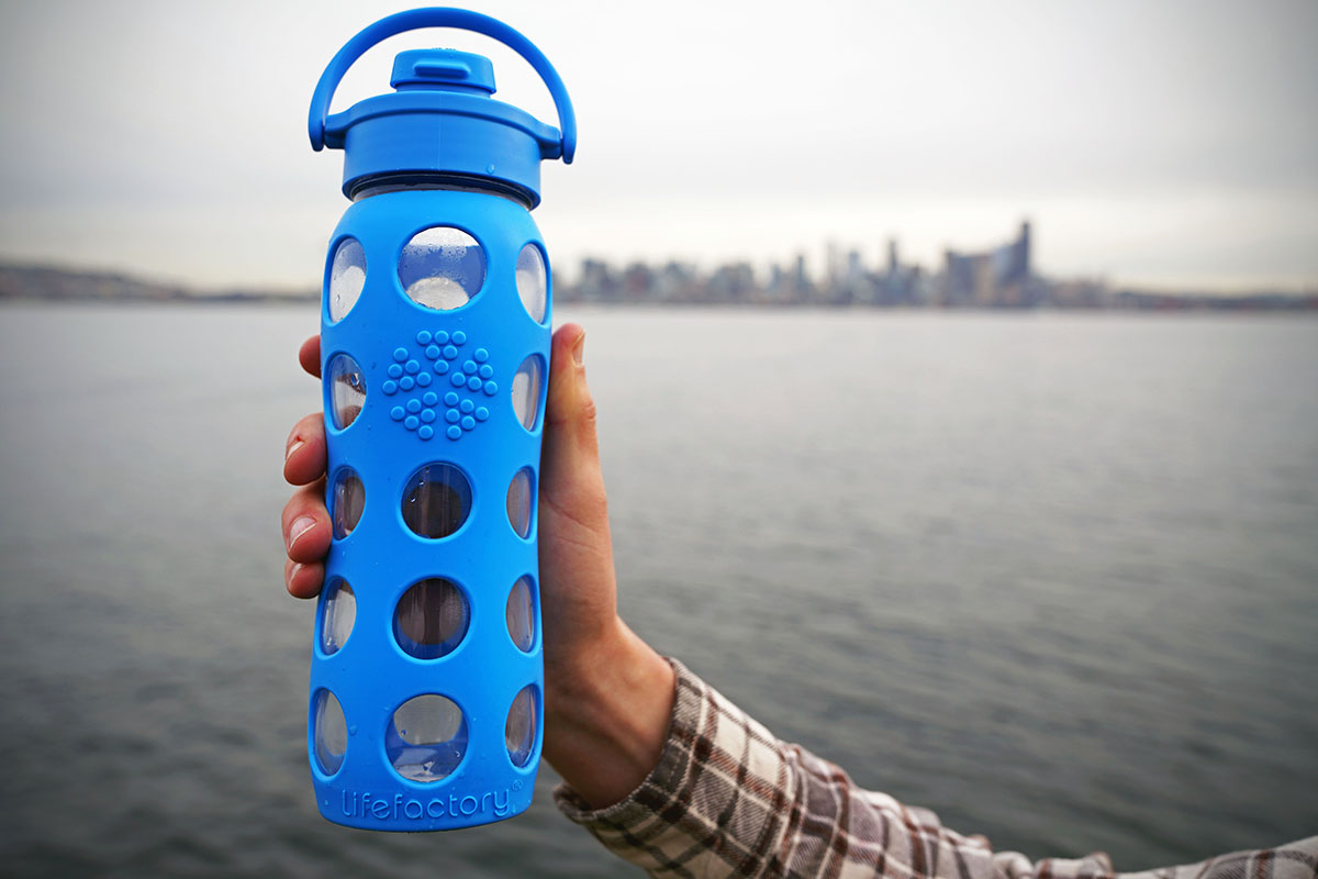 Water bottle (Lifefactory Glass)