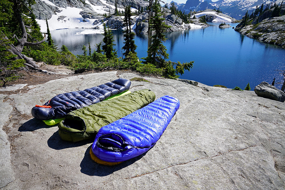 Ultralight sleeping bags (group)