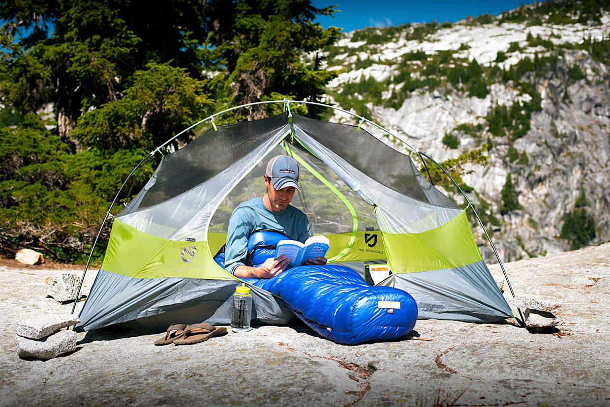 Ultralight sleeping bags (sewn-through footbox)